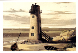 Postcard of Point of Ayr Lighthouse / Llun o: Cerdyn post o Goleudy'r Parlwr Du